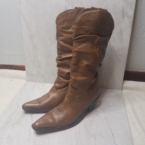 Bakers Stud Cowboy Cowgirl Boots Leather
